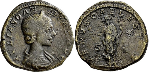 julia soaemias roman coin as
